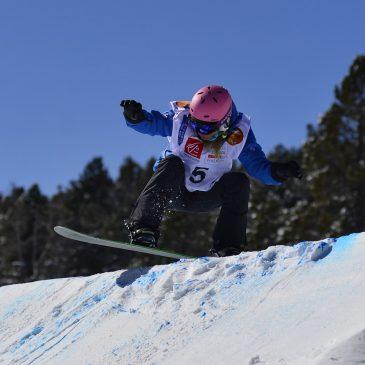 Cécile Hernandez-Cervellon réussit son entrée  sur la Coupe d'Europe de snowboardcross aux Angles