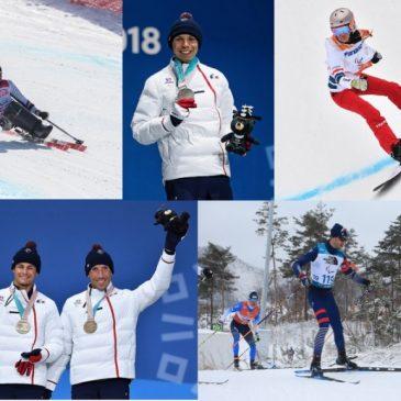 Les médaillés des Jeux Paralympiques à Chamrousse du 23 au 25 mars